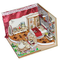 DIY Wooden Dollhouse Miniature Furniture Kits - Peaceful Bedroom Best Gift