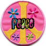 Peace sign hippie retro boho embroidered applique iron-on patch S-23