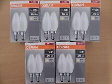 10 St. OSRAM LED BASE Classic B40 E14 Retrofit 2700K 4W wie 40W Kerzenlampe