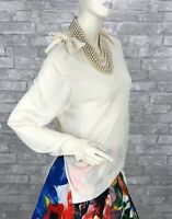 Simone Rocha New Tags Ivory Knit Sweater Top 12 US 48 IT L Runway Auth Ret $410