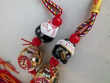 4 JAPANESE BLACK LUCKY FORTUNE CAT HANGING CHARM CHINESE WEDDING BIRTHDAY PARTY