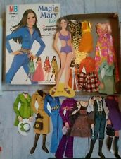 VINTAGE 1972 MILTON BRADLEY MAGIC MARY LOU MAGNETIC PAPER DOLL Complete!
