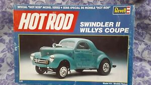 Revell Swindler II Willys Coupe Hot Rod Model Series Unbuilt Complete