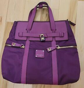 Henri Bendel Convertible Jetsetter Backpack Pink/Burgundy