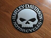 Harley-Davidson Willie G Skull Button Round Tin Sign 99332-08V