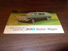 1965 Rambler American 330 Station Wagon Vintage Advertising Postcard