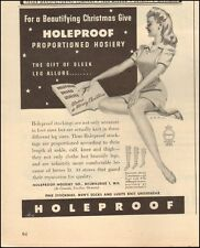 1945 Vintage ad for Holeproof Hosiery`Sexy pin-up style model (022616)
