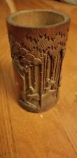 Vintage Chinese Hand Carved Bamboo Brush Pen Holder