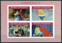 Madagascar 2019 MNH Sleeping Beauty 4v IMPF M/S Disney Cartoons Animation Stamps