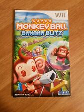 Super Monkey Ball Banana Blitz Nintendo Wii Manual Only