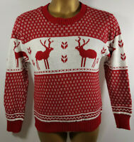 Women Ladies Snowflake and Reindeer Knitted Jumper Size M/L BNWT WJ Oct18-11