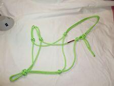 "1/4"" Soft Polyester Rope Horse Halter-Lime-Average Horse Size"