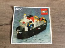 Lego receta 4005 Tug boat barco bote de 1982 only instruction City ciudad