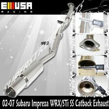 SS Catback Exhaust for 2002-2007 Subaru Impreaza WRX/STi Sedan/Wagon ADJ Tip