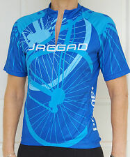 Jaggad Cycling Bike Jersey short sleeve Blue Ladies Women Mens Slim S M L XL XXL