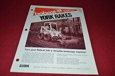 Bobcat Skid Loader York Rake Attachment Dealers Brochure DCPA2