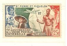 TIMBRES St PIERRE ET MIQUELON P.AERIENNE NEUFS AVEC CHARNIERES YVERT N° 21