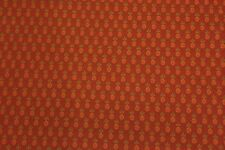 GRADY PINEAPPLE BURNT ORANGE TISSUE PICK JACQUARD HEAVY FURNITURE FABRIC BY YARD