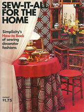 Simplicity's How To Book ~ Sew It All For The Home ~ 97 Pages Soft Cover Book
