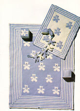 Cute Teddy Bear Baby Blanket & Pram/Cot Cover 4 ply Knitting Pattern