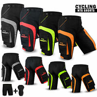 MTB Cycling Short Off Road Cycle Bicycle CoolMax Padded Liner Shorts M to 2XL