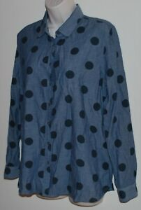 Trenery long-sleeved cotton shirt/blouse Size L