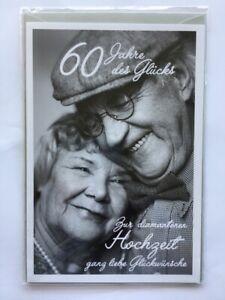 Diamantene Hochzeit Doppelkarte mit Umschlag