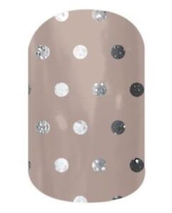 Jamberry 1/2 sheet  - ICY TAUPE POLKA   B122  - FREE SHIPPING