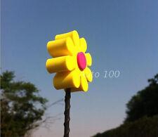 Yellow & red Daisy Flowers Antenna Balls Car Aerial Ball Antenna Topper Decor