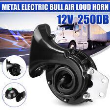12V Horn Metal Elektrisch 250dB Bull Lufthorn Super laut Fanfare Auto Motorrad