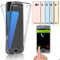 Clear Shockproof 360° Silica TPU Full Slim Case Cover  Samsung Galaxy S7 S7edge