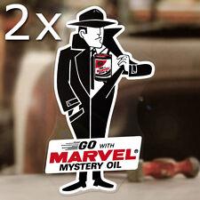 2x Stück Marvel Mystery Oil Man Aufkleber Sticker Autocollante Hot Rod STP