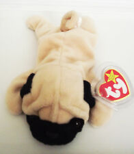 TY BEANIE BABY PUGSLY PUG PVC 4TH GEN HANG TAG 4TH GEN TUSH 9 ERROR RETIRED NEW