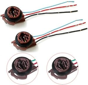 Universal Pigtail Wire Female Socket 3157 U Two Harness Brake Stop Tail Lamp Fit