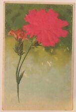 PostCard Pink Flowers Posted 1908 Iowa Printed in Germany Vintage
