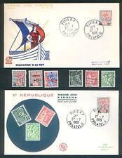 France - 1959 - Marianne à la Nef -N°1216 1229 et 1234 + 2 Fdc 1er jour +++