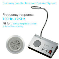 2 Way Window Counter Intercom Speaker System 9908 For Bank Office Hospital Store