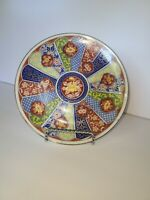 Imari Ware Japan Plate Vintage Decorative Porcelain Gold Trim as pictured 2
