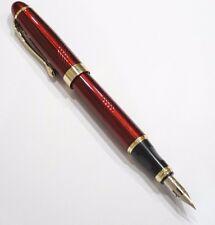More details for jinhao x450 red spiral twist fountain pen, zebra g flex nib calligraphy - uk!