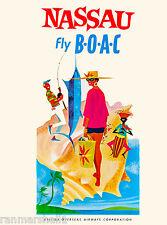 Nassau Bahamas Caribbean Islands Beach Vintage Travel Advertisement Poster 9