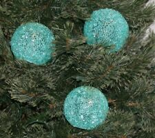 New Set of 3 Illuminated Sparkle Snowballs by Valerie Parr Hill Lighted W/Timer