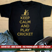 Keep Calm Play Cricket Australia T Shirt Funny Day Ashes Emigrate Holiday Gift