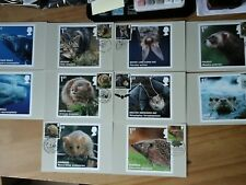 2010 MAMMALS PHQ 335 FULL SET OF 10 STAMP CARDS FDI FRONT SPECIAL HANDSTAMPS