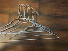 "10 Strong Metal Silver Steel Wire Hangers Shirts Clothes 16""  Free Shiping"