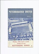 Peterborough United v Kettering 28 April 1958 Maunsell Cup Final