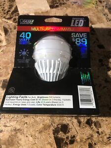 Feit Electric BPAG500DM/LED Led  Bulb, A19, 40W, Multi-use,  Dimmable NEW