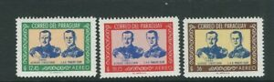 PARAGUAY 1962 VISIT of PRINCE PHILIP set of 3 VF MLH