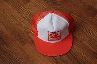 Vintage Mesh Celanese Orange Trucker Cap Hat Snapback