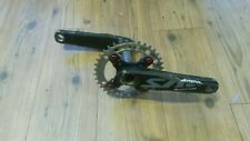 Shimano Saint 170mm Cranks, Chromag 37t DH chainring, anodised red e13 bolts.