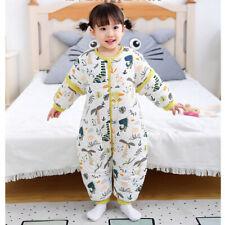 Baby Schlafsack mit Füßen Winter Kinder Strampler mit Beinen abnehmbar Ärmel DE